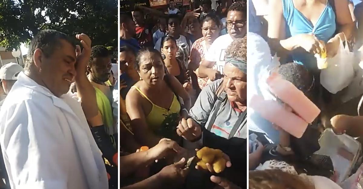 Moradores compram coxinhas e suco de vendedor para fiscalização não apreender 3
