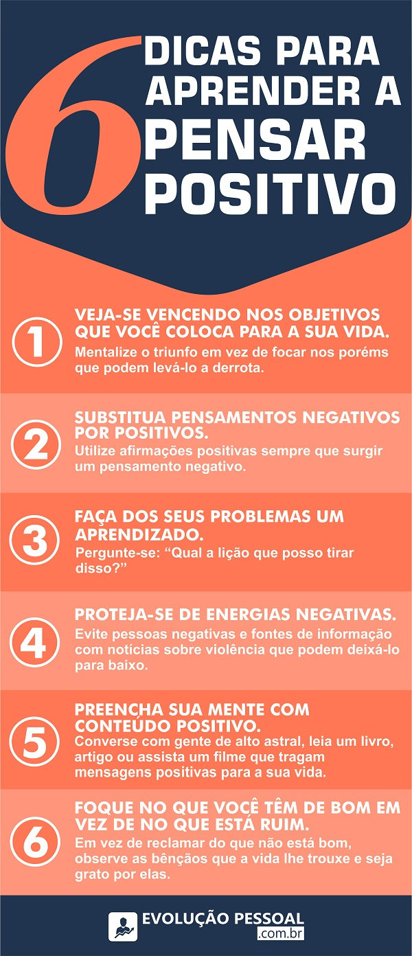 infográfico cultivando uma mente positiva