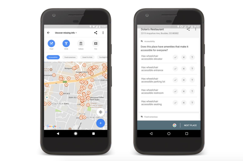 Google Maps acessível