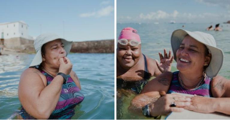 Há 17 anos ela dá aulas de natação de graça para quem não pode pagar, em Salvador 1