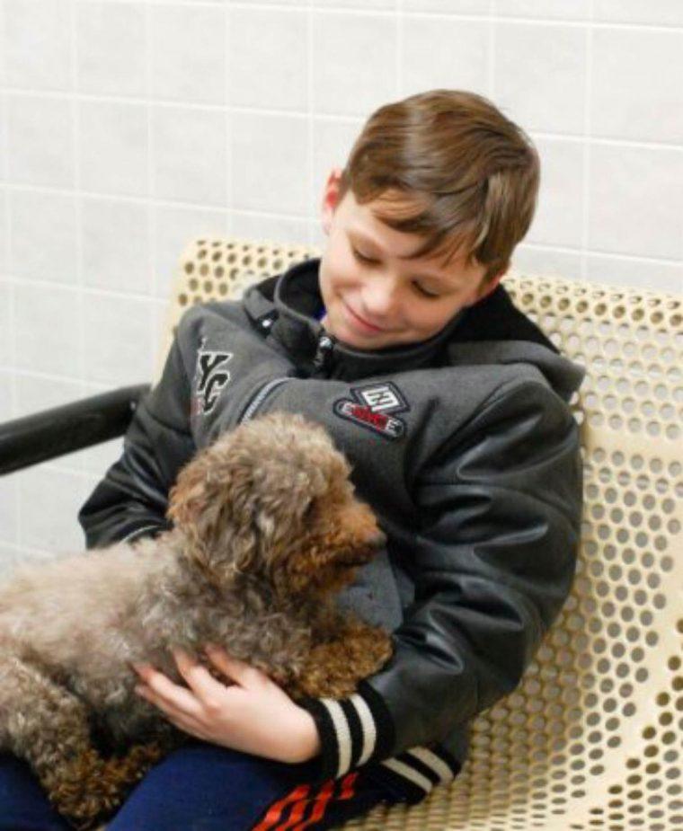 Garoto visita abrigo e adota o cachorro mais velho de todos 2