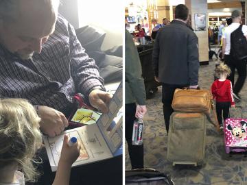 Desconhecido ajuda mãe a acalmar filhos pequenos chorando no avião 1