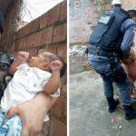Policiais resgatam 2 bebês no domingo de Páscoa dando nova vida a eles 1