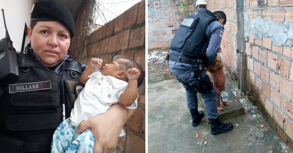 Policiais resgatam 2 bebês no domingo de Páscoa dando nova vida a eles 2