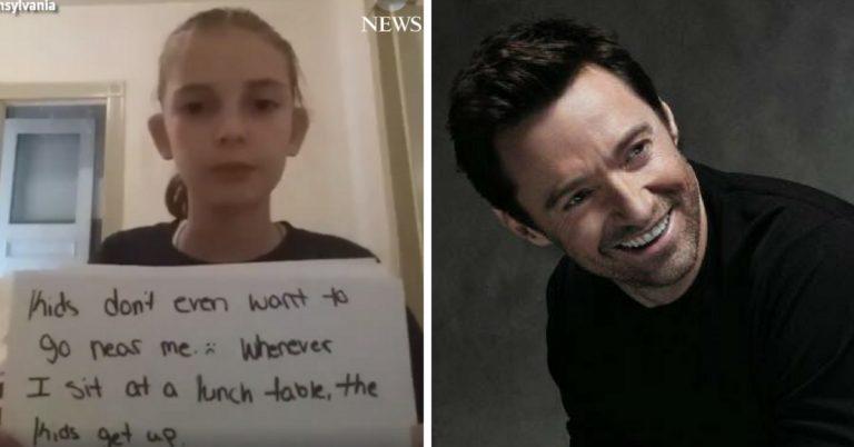 Garota de 10 anos vítima de bullying recebe linda mensagem de Hugh Jackman 1