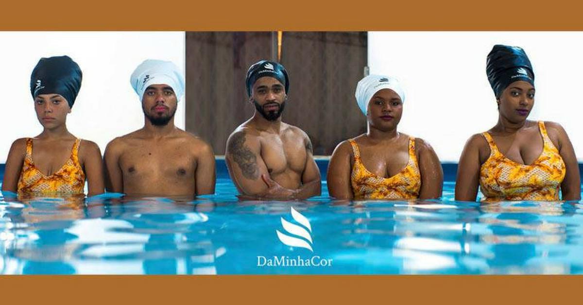 toucas de banho cabelo afro