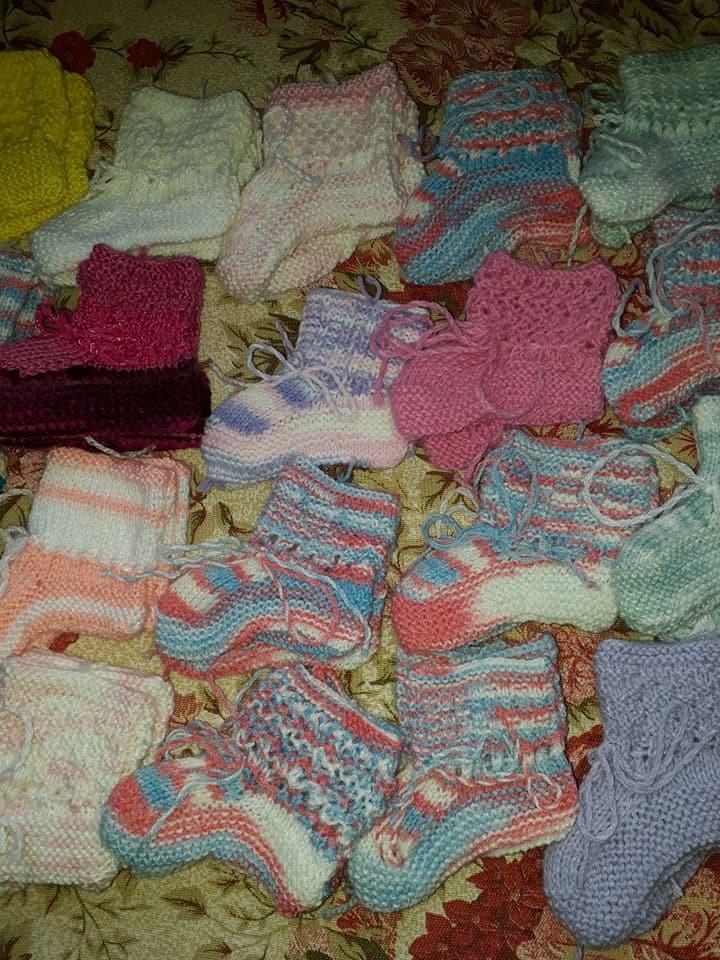 meias bebê lã