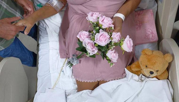 médica realiza casamento paciente câncer