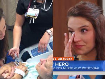 enfermeira ganha surpresa