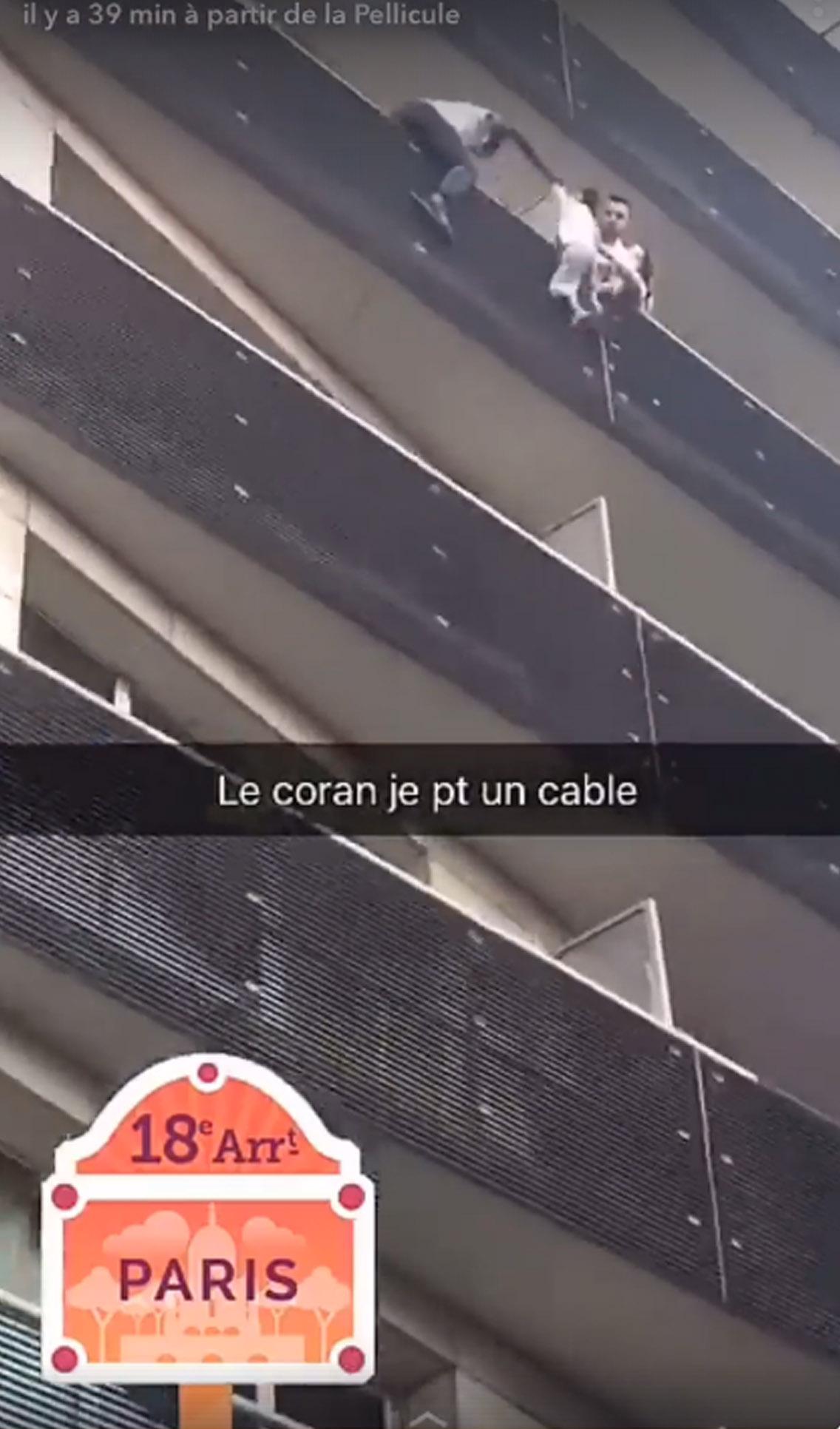 imigrante prédio resgate menino