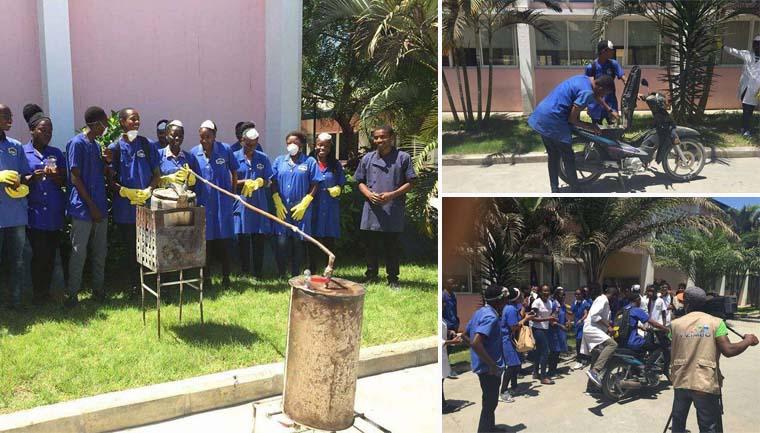 Estudantes de Angola transformam plástico em gasolina 1