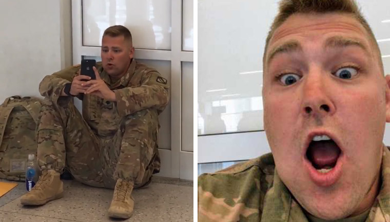 soldado acompanha nascimento filha