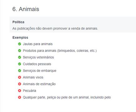 venda de animais Facebook