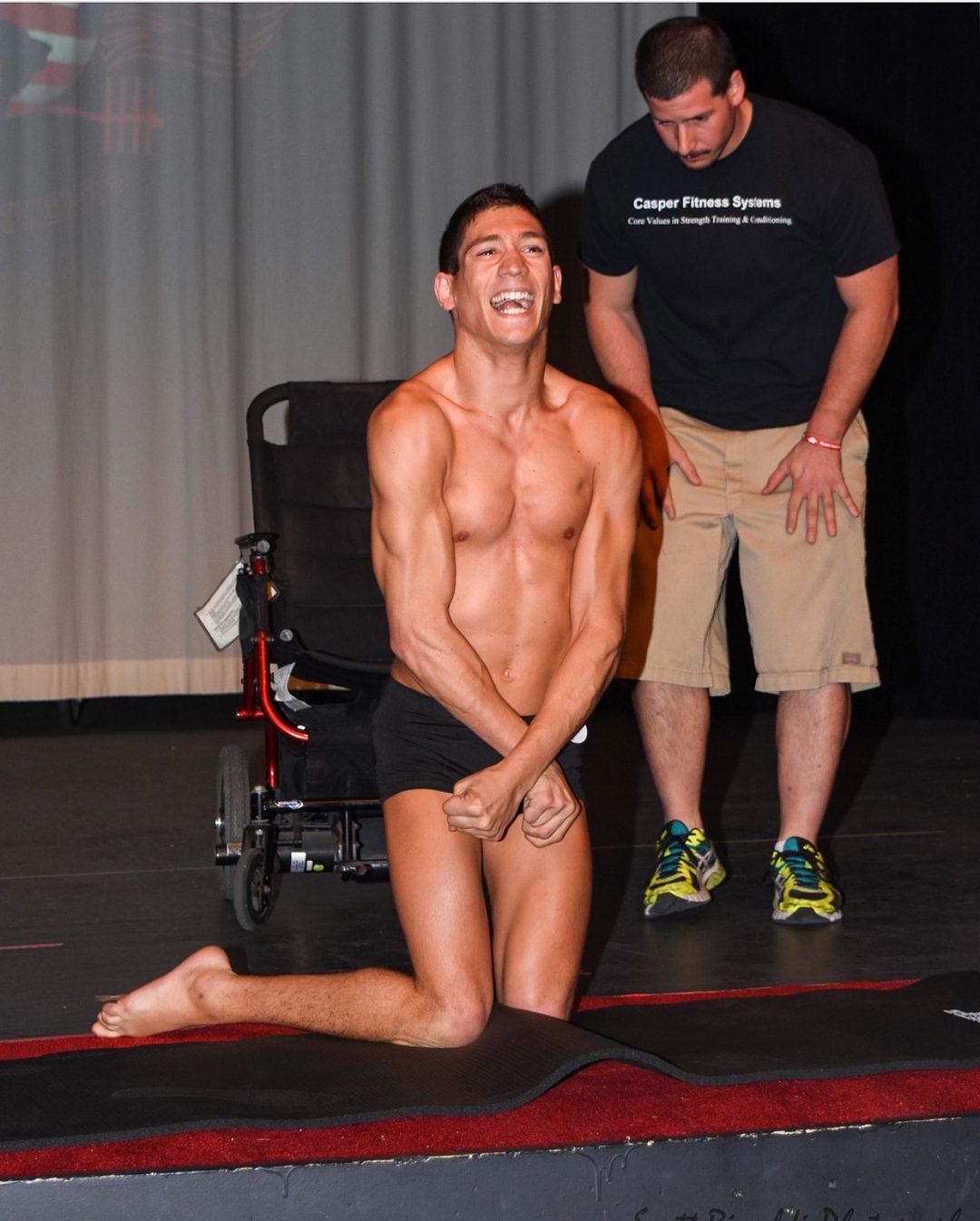 atleta fisiculturismo paralisia cerebral