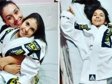 Atleta apresenta jiu-jitsu para prima com Síndrome de Leigh 1