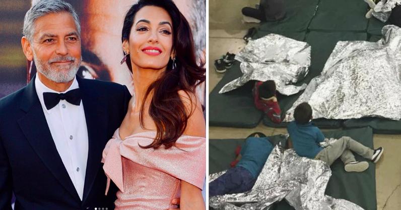 George Clooney e Amal doam US$ 100 mil para ajudar crianças imigrantes separadas dos pais