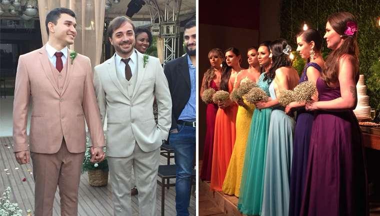 amizade amigas madrinhas casamento gay vestidos arco-íris