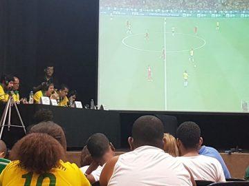 deficientes visuais acompanha jogo Brasil