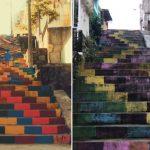 escadaria novela sol nascente
