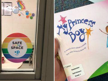 sala escola crianças adesivo respeito LGBTQ+