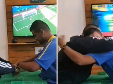"""Intérpretes fazem surdocego """"ouvir e enxergar"""" os gols do Brasil"""
