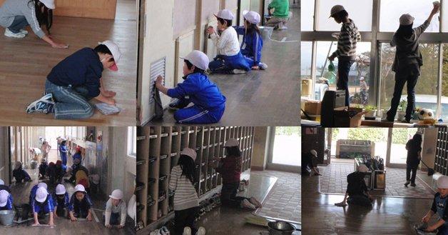 japoneses limpam locais