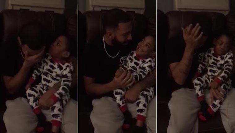 pai chora enquanto canta filho problema audição