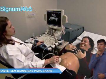 gestante deficiente auditiva realiza ultrassom