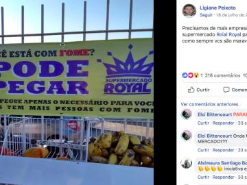 Supermercado disponibiliza gratuitamente alimentos para quem tem fome 1