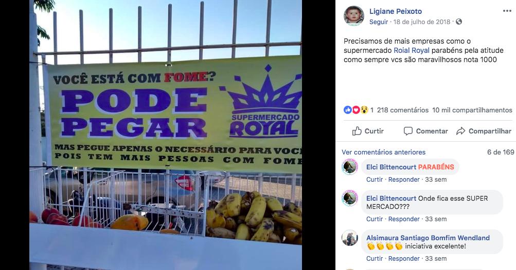 Supermercado disponibiliza gratuitamente alimentos para quem tem fome 3