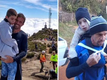 corredor sobe pico filho paralisia cerebral costas