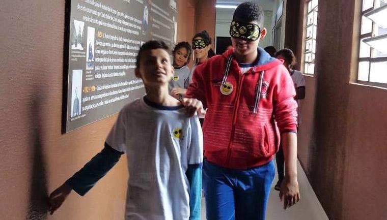 estudantes são paulo vivenciam realidade deficientes visuais