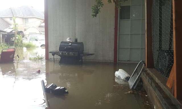 homem quebra chão casa salvar gata durante chuva