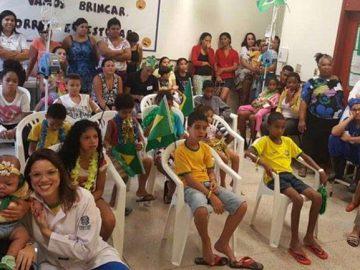 hospital infantil libera jogos Brasil crianças internadas