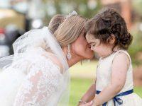 noiva convida menina transplante medula daminha casamento