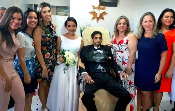 paciente com câncer se casa em Maceió