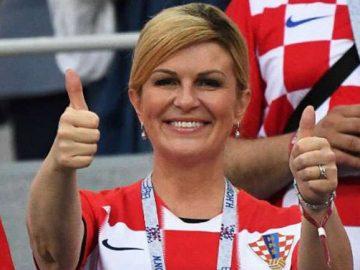 presidente croácia assiste jogos copa mundo arquibancada