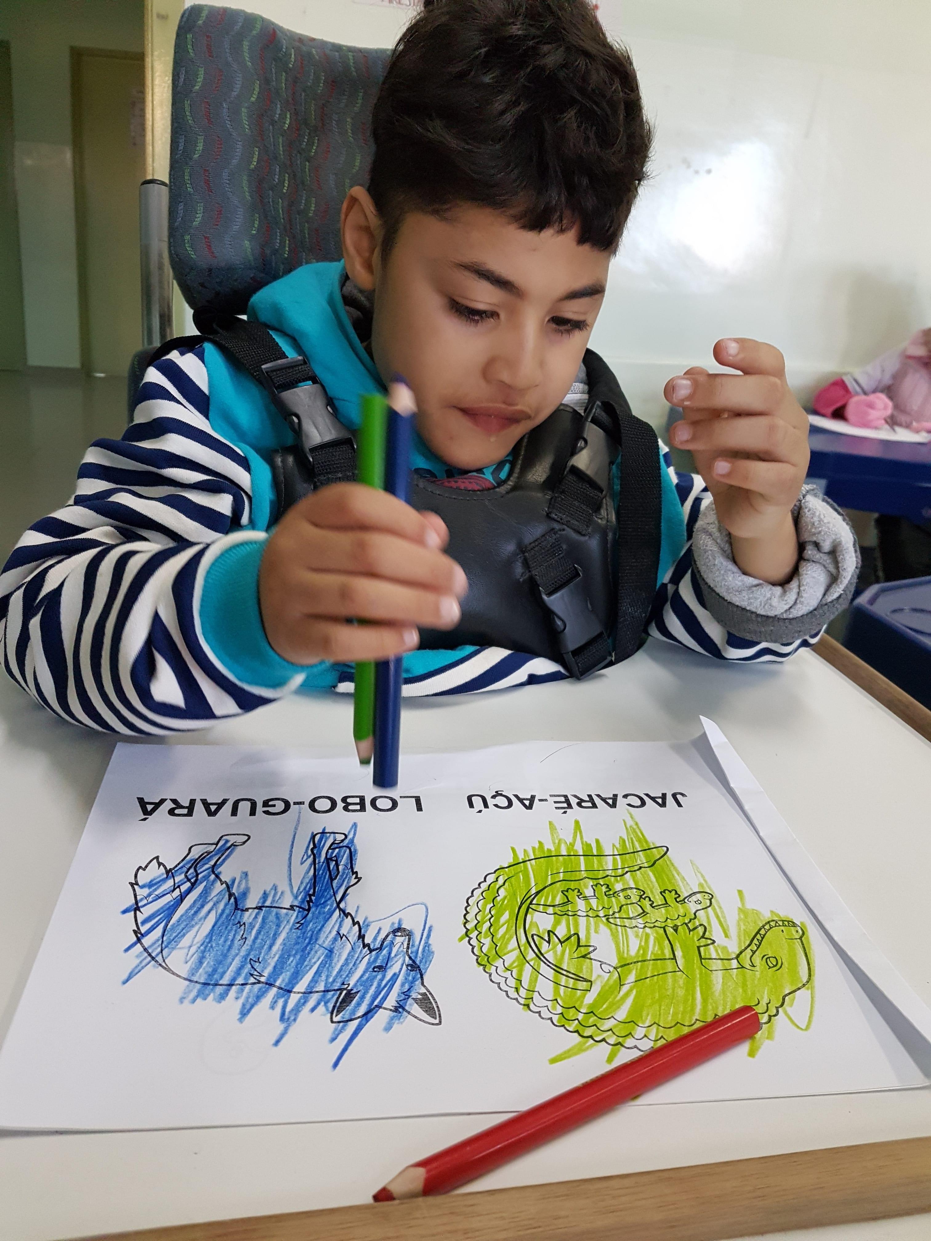 professora promove inclusão aluno necessidades especiais