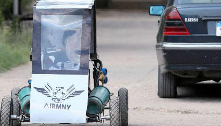 estudantes criam carro movido ar