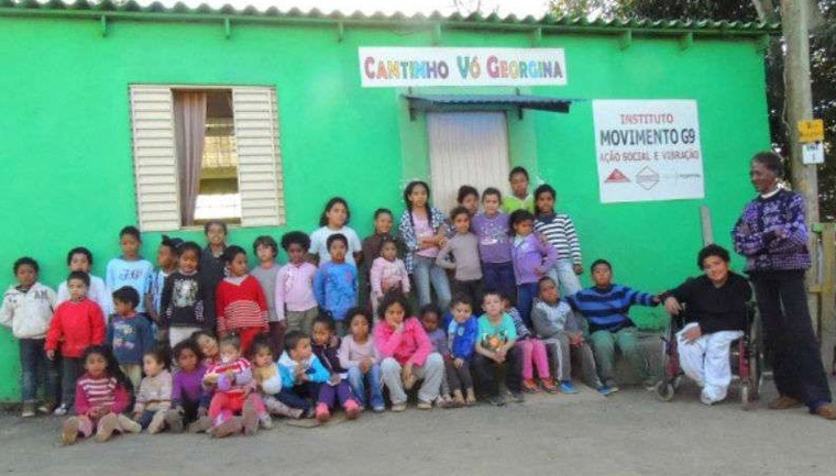 georgina abre creche casa crianças abandonadas