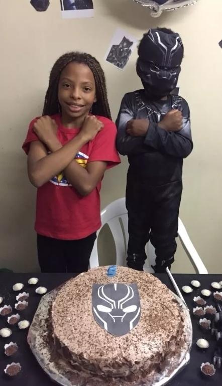 Menino escolhe Pantera Negra como tema de sua festa 1