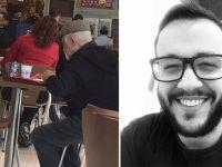 jornalista almoça idoso solitário dia dos pais