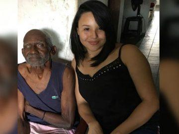 jovem leva idoso vivia casebre para casa