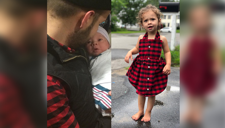 mãe transforma camisa marido vestido filha