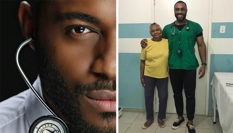 médico negro atende mulher negra