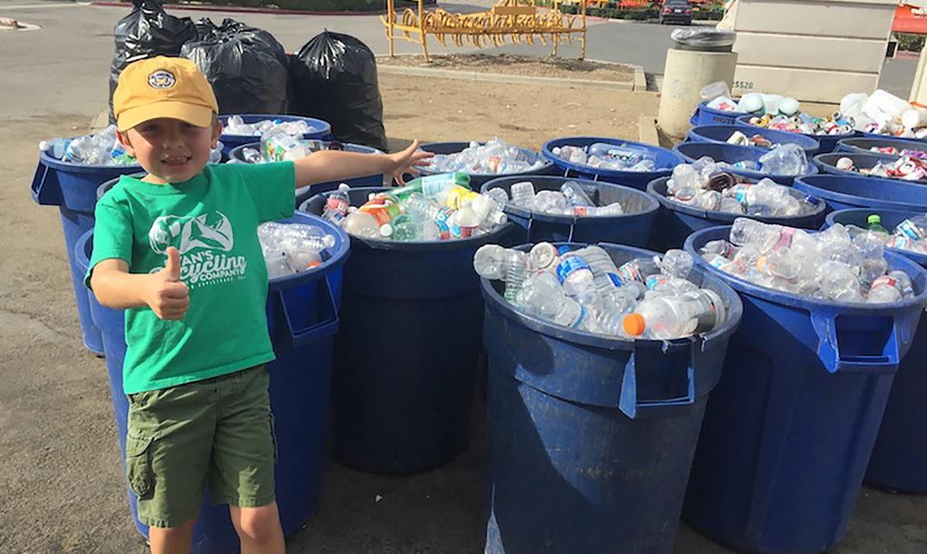 reciclagem menino