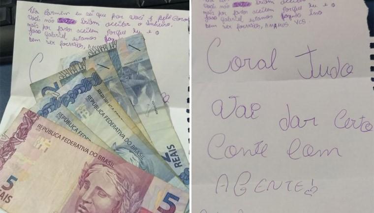 crianças vendem desenhos ajudar tia pagar viagem coral