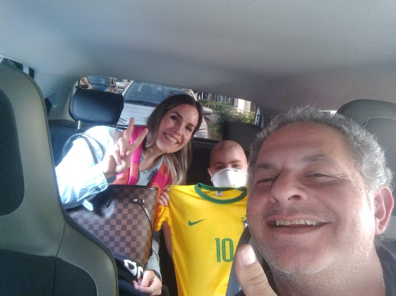 motorista uber camisa neymar garoto leucemia