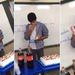Estudantes dão celular colega dificuldades financeiras aniversário