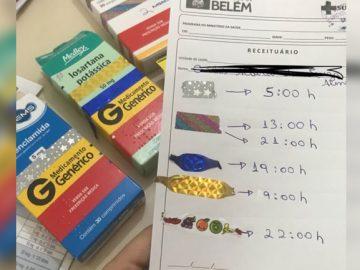 estudante medicina adapta receita analfabeto fitinhas
